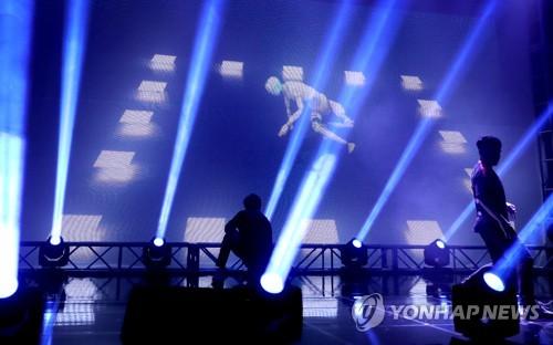 YONHAP NEWS1일 한국콘텐즈진흥원 시연장에서 인공지능이 창작한 안무가 공개됐다