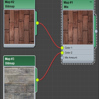 Mix node에 두 개의 이미지를 Bitmap으로 불러온 후 연결한 상태