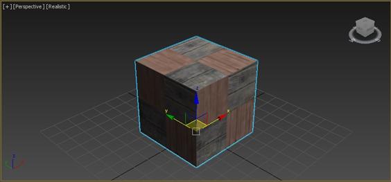 3ds Max에서 오브젝트에 적용한 상태