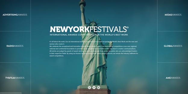 뉴욕 페스티벌 홈페이지